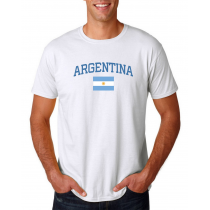 Men's Round Neck  T Shirt Jersey  Country Argentina