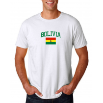 Men's Round Neck  T Shirt Jersey  Country Bolivia