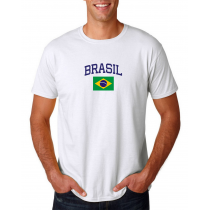Men's Round Neck  T Shirt Jersey  Country Brasil