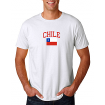 Men's Round Neck  T Shirt Jersey  Country Chile