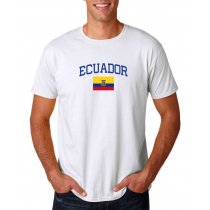 Men's Round Neck  T Shirt Jersey  Country Ecuador