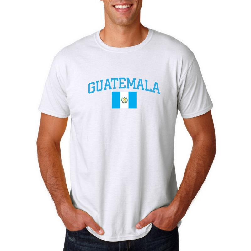 Men's Round Neck  T Shirt Jersey  Country Guatemala