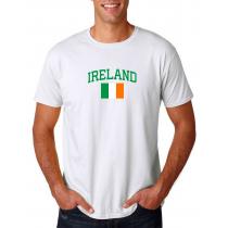 Men's Round Neck  T Shirt Jersey  Country Ireland
