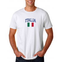 Men's Round Neck  T Shirt Jersey  Country Italy