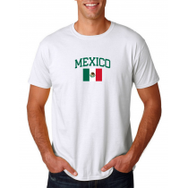 Men's Round Neck  T Shirt Jersey  Country Mexico