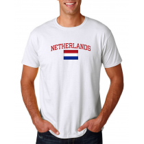 Men's Round Neck  T Shirt Jersey  Country Netherlands