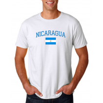 Men's Round Neck  T Shirt Jersey  Country Nicaragua