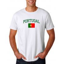 Men's Round Neck  T Shirt Jersey  Country  Portugal