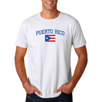 Men's Round Neck  T Shirt Jersey  Country Puerto Rico