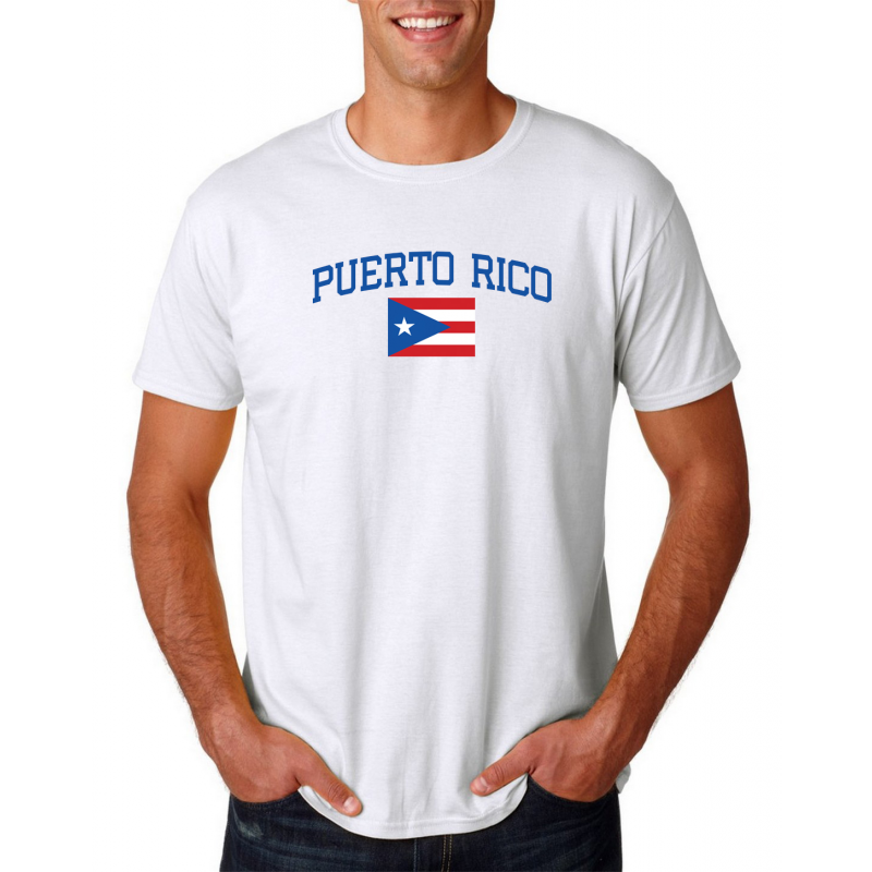 the latest bd6cc 95fb5 Men's Round Neck T Shirt Jersey Country Puerto Rico