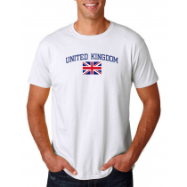 Men's Round Neck  T Shirt Jersey  Country United Kingdom
