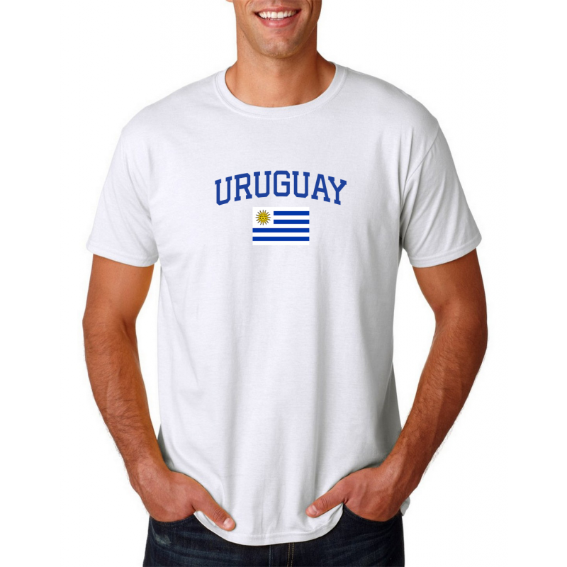 Men's Round Neck  T Shirt Jersey  Country Uruguay