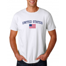 Men's Round Neck  T Shirt Jersey  Country United States