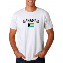 Men's Round Neck  T Shirt Jersey  Country  Bahamas