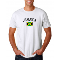 Men's Round Neck  T Shirt Jersey  Country  Jamaica