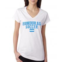 Women's V Neck Tee T Shirt  Soccer  Honduras