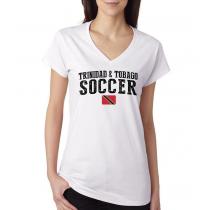 Women's V Neck Tee T Shirt  Soccer  Trinidad & Tobago