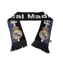 Real Madrid Fc Scarf Reversible Black Purple