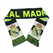 Real Madrid Fc Scarf Reversible Black Grey