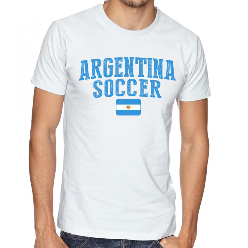 Men's Round Neck Tee T Shirt  Soccer  Argentina