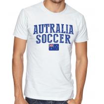 Men's Round Neck Tee T Shirt  Soccer  Australia