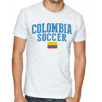 Men's Round Neck Tee T Shirt  Soccer  Colombia