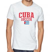 Men's Round Neck Tee T Shirt  Soccer  Cuba