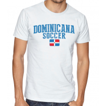 Men's Round Neck Tee T Shirt  Soccer  Dominicana