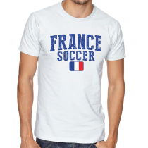 Men's Round Neck Tee T Shirt  Soccer  France