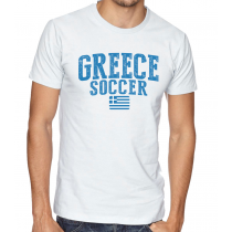 Men's Round Neck Tee T Shirt  Soccer  Greece