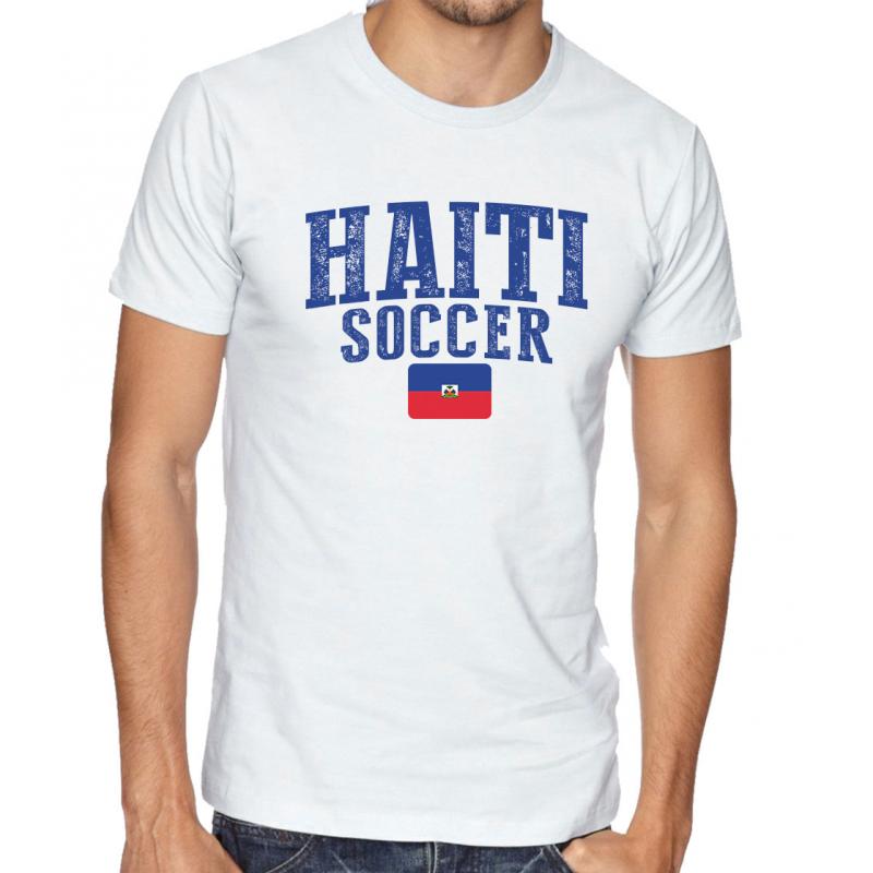 Men's Round Neck Tee T Shirt  Soccer  Haiti