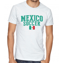 Men's Round Neck Tee T Shirt  Soccer  Mexico