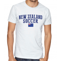 Men's Round Neck Tee T Shirt  Soccer  New Zeland