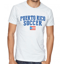 Men's Round Neck Tee T Shirt  Soccer  Puerto Rico