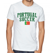 Men's Round Neck Tee T Shirt  Soccer   Portugal