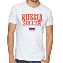 Men's Round Neck Tee T Shirt  Soccer  Russia