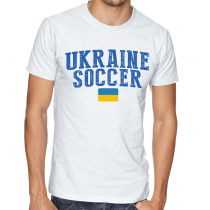 Men's Round Neck Tee T Shirt  Soccer Ukraine