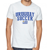 Men's Round Neck Tee T Shirt  Soccer Uruguay