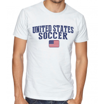 Men's Round Neck Tee T Shirt  Soccer United States