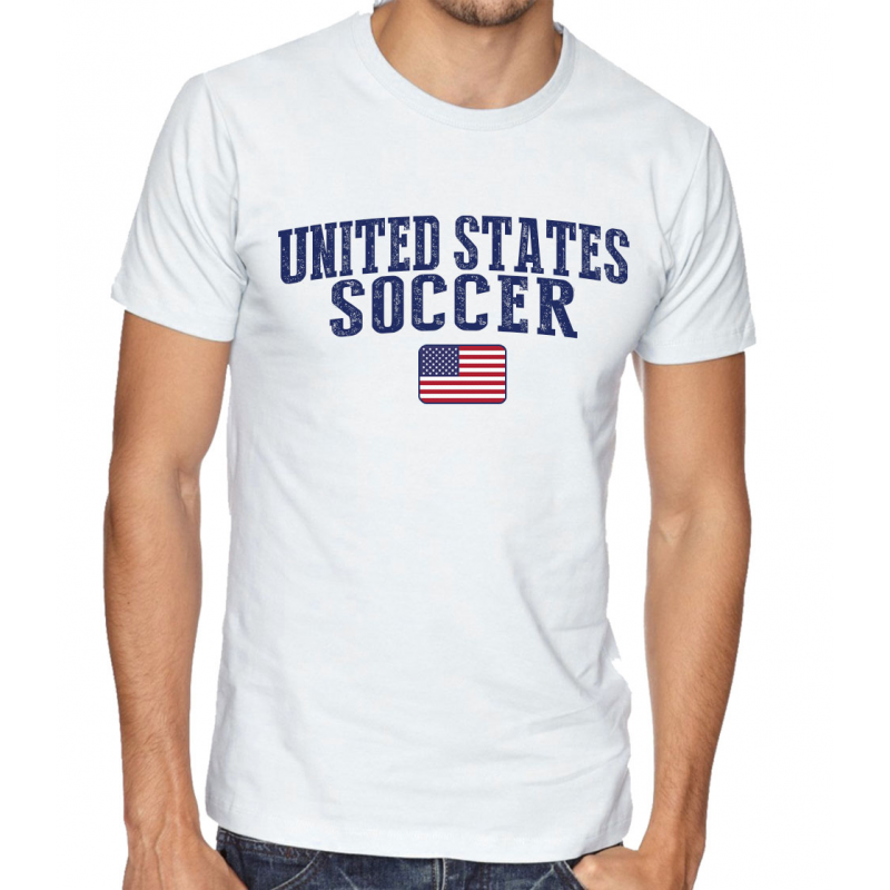 Men's Round Neck Tee T Shirt  Soccer United States