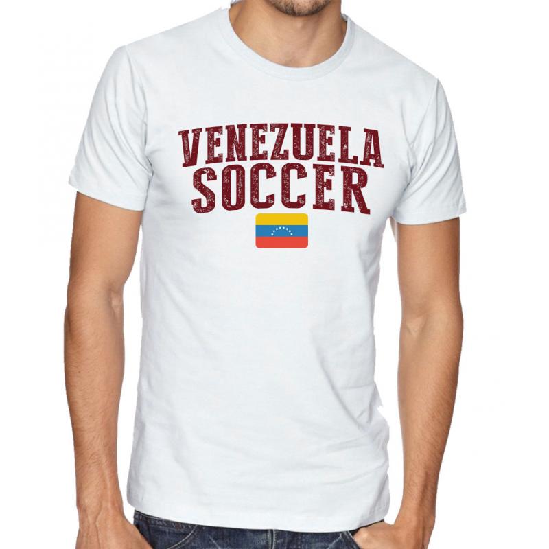 Men's Round Neck Tee T Shirt  Soccer Venezuela
