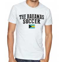 Men's Round Neck Tee T Shirt  Soccer The Bahamas