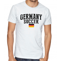 Men's Round Neck Tee T Shirt  Soccer Germany