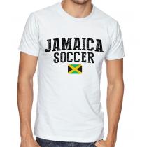 Men's Round Neck Tee T Shirt  Soccer Jamaica