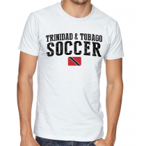 Men's Round Neck Tee T Shirt  Soccer Trinidad & Tobago