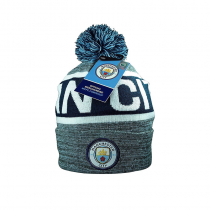 Manchester City Letters Adult's Pom Beanie
