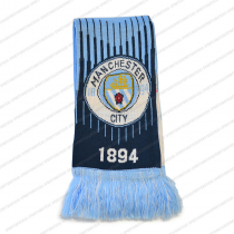 Manchester City F.C. Scarf Reversible Light Blue White