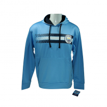 Manchester City Men's Adult Hoodie Jacket Light Blue