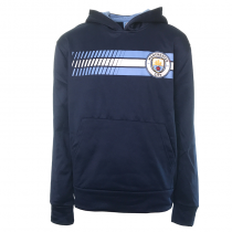 Manchester City Youth Hoodie Jacket Navy Stripe