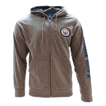 Manchester City Men's Adult Hoodie Jacket Zip Grey